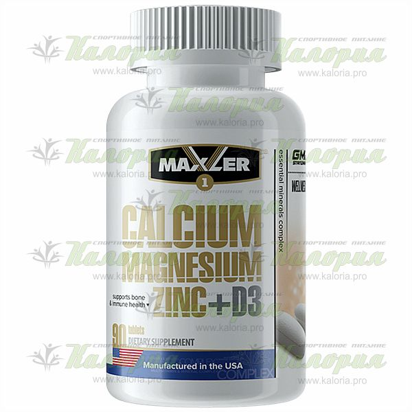Calcium Magnesium Zinc + D3 - 90 tabs