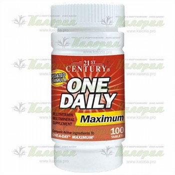 One Daily Maximum - 100 tabs